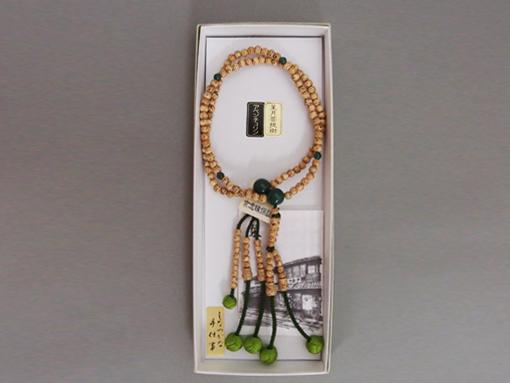 お数珠(日蓮宗檀信徒向・星月菩提樹仕立)翡翠